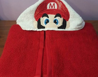 Super Mario Brothers Hooded Towel Mario OR Luigi