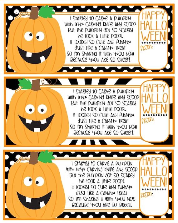 Pumpkin Poop Poem Happy Halloween Cute Pumpkin Poem