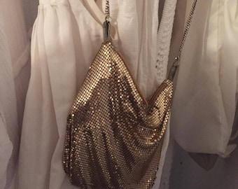 dazzling gold sack chain bag   #cute