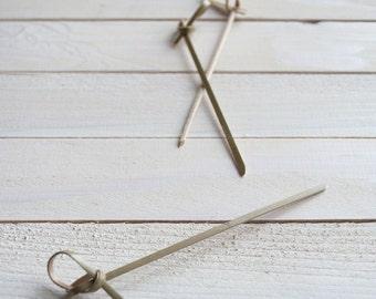 Bamboo Skewers - Swizzle Sticks - Food Picks 10.5 cm - 50pcs