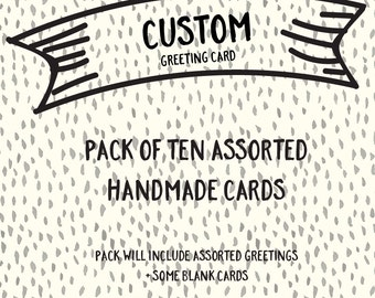 Pack of Ten Assorted Handmade Greeting Cards