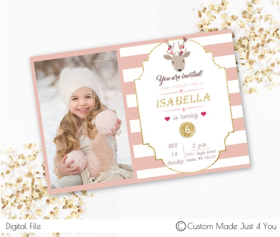 custom forest brithday invitation