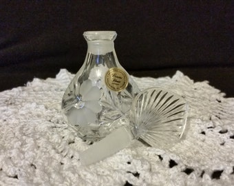 Princess House Crystal Perfume bottle Heritage romance collection
