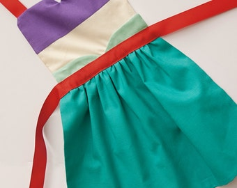 The Little Mermaid princess Ariel dress up apron for toddlers and little girls