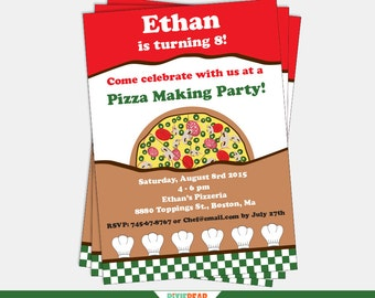 Pizza Party Invitation - Pizza Invitation - Pizza Party Invite - Pizza Birthday - Pizza Party - Pizza Birthday Party (Instant Download)