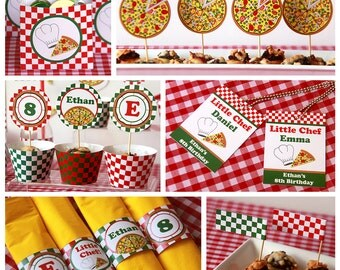 Pizza Birthday - Pizza Party - Pizza Party Decorations - Pizza Decor - Pizza Birthday Party - Party Printables (Instant Download)
