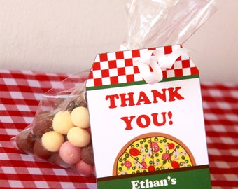 Pizza Party Favors - Pizza Favor Tags - Pizza Party - Pizza Birthday - Thank You Tags - Printable Favor Tags (Instant Download)