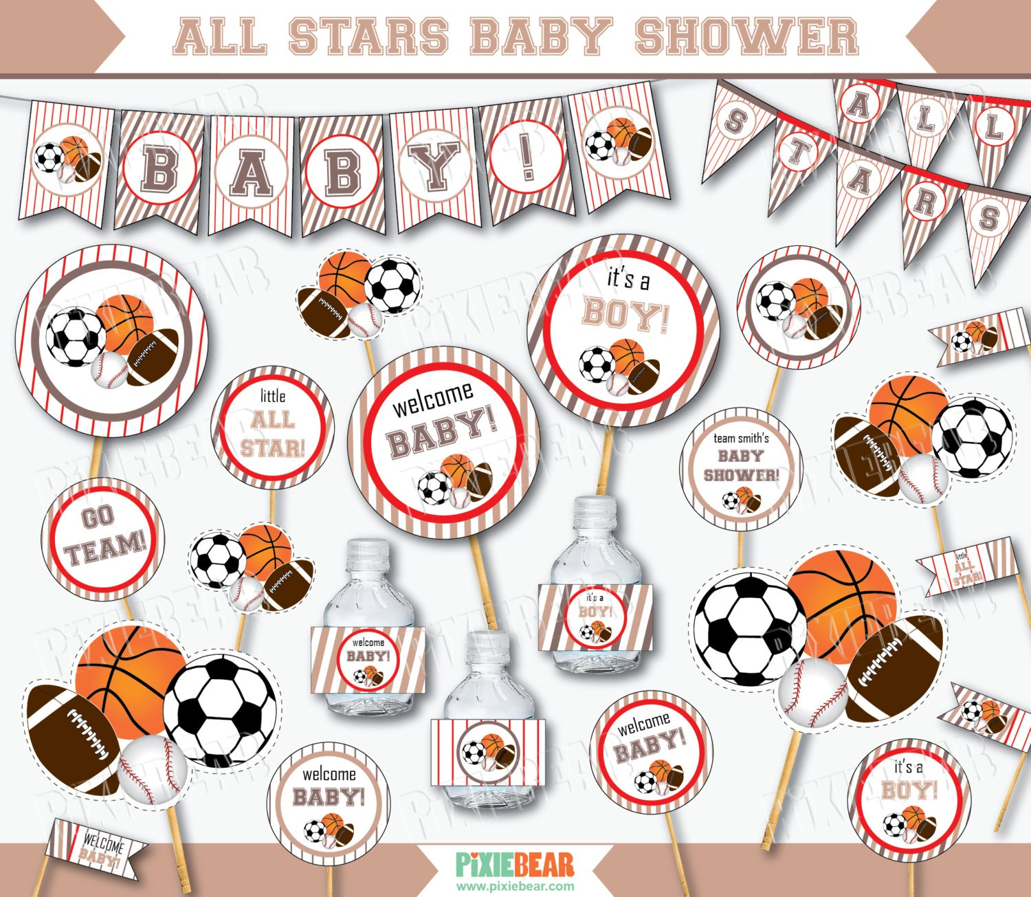 sports baby shower decorations all star baby shower sports