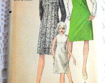 1960's Vogue 6887 Sewing Pattern A-Line Jumper or Dress Size 14 Bust 34  UNCUT
