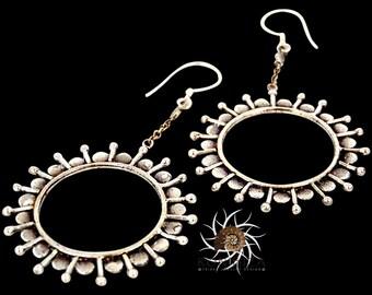 Silver Earrings - Tribal Earrings - Indian Earrings - Gypsy Earrings - Ethnic Earrings - Statement Earrings - Long Earrings (ES70)