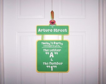 Sesame Street Party Sign, Elmo Door Sign, Sesame Street Birthday Sign, Elmo Birthday Sign, Birthday Door Sign, Party Sign, Door Banner