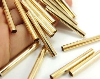 Raw Brass Tube, 10pcs (32x5mm) Raw Brass Tube Beads, Long Tube Findings, Raw Brass Tube Findings, Raw Brass Tube Spacers, Tube Spacers