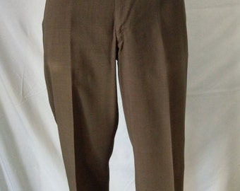 Vintage 60s 70s Majer Slacks men's pants green color size 36
