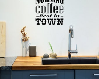 Lovely Wall Decal, Vintage Cafe Decal, Retro Style Cafe, Kitchen Wall Stickers,  Dining