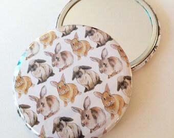 Bunny Rabbit Pocket Mirror