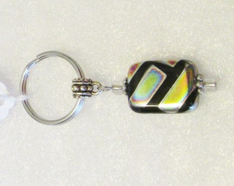 1330 - NEW - Black Key Ring