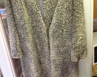vintage gray Persian Lamb and mink coat
