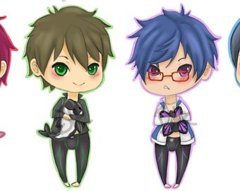 Iwatobi Swim Club Anime Stickers