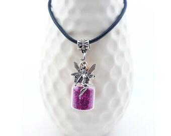 Handmade Fairy necklace – custom fairy necklace – glow in the dark fairy necklace – faerie necklace – fairy magic custom Fairy necklace