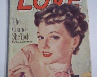 Ten Story Love Vol XXVII # 1 December 1949 Vintage Romance Pulp Magazine GGA