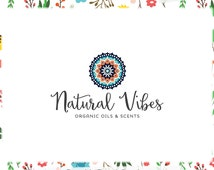 Mandala Premade Logo Design - Web and Print - Limited Edition! Perfect For Boutique, Organics, Yoga Studio, Wellness Blog, Personal Trainer