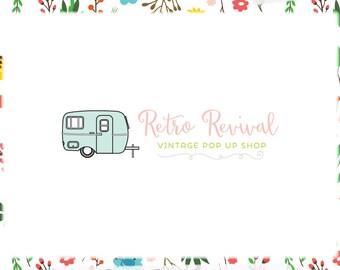Premade Vintage Camper Logo Design - Web, Blog, Marketing, Print - Limited Edition! Perfect For Vintage and Retro Shops, Travel Blog & more!
