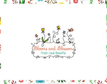 Floral Logo Design & Blog Header - Web and Print Files - Limited Edition! Perfect For Florist, Photographer, Boutique, Children's Clothing
