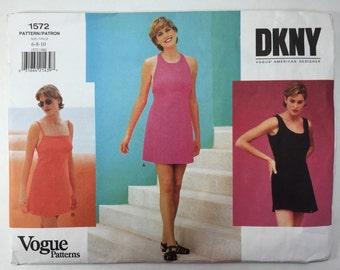 Vogue 1572 DKNY Misses' Dress & Jumpsuit sizes 6,8,10 uncut