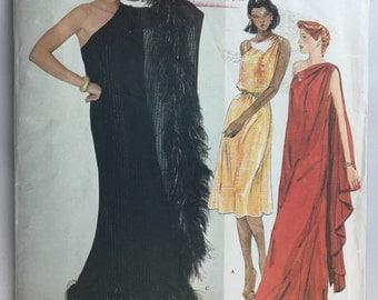 Vogue 2832 Vintage Edith Head American Designer Grecian Dress Pattern  size 12 uncut with Label