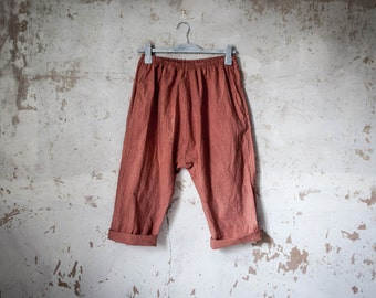 Organic Ethical Cotton Slouch Trousers Sustainable Fashion // available natural with no dye