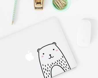 Mini Haru the Bear Laptop decal / Vinyl Sticker / Tile Decal / Wall Decal / Office decor