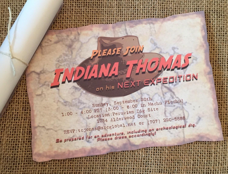 Indiana Jones Birthday Invitations Indiana Jones Party – Indiana Jones Party Invitations