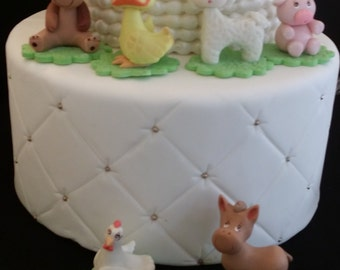Farm Cake Topper, Farm Baby Animals, Farm Birthday, Farm Baby Shower, Animal Cake Topper, Farm Birthday Cake, Animals Babies Cake Decoration