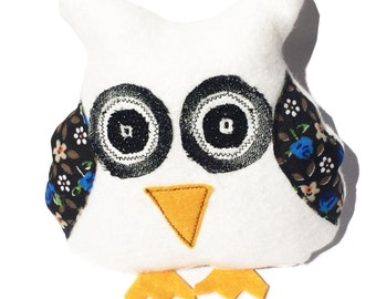 Owl Softie, Owl Soft Toy, Plush Owl, Toy Owl, White Owl