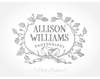 Logo Design Premade Vintage Hand Drawn Photography Boutique