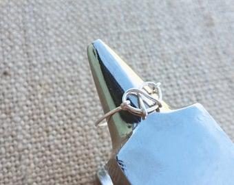 Simple Sterling Pretzel Ring