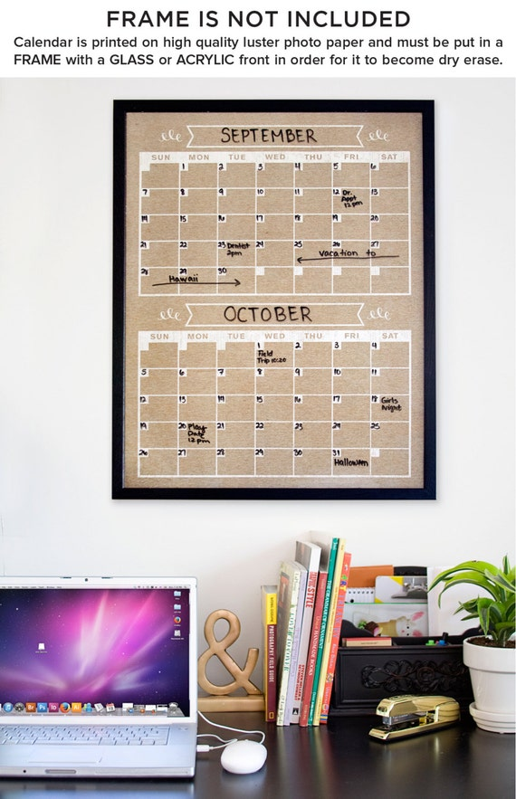 Family Calendar Wall : Month calendar vertical family planner wall by blissnotions