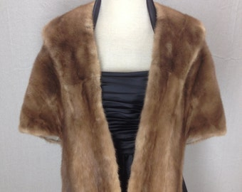 Vintage Frazer Furs Beautiful Monogrammed Fur Shawl