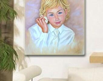 Portrait in pastel,Pastel Portrait ,Children Paintings ,Custom Portrait,Portrait in Pastel,original painting,