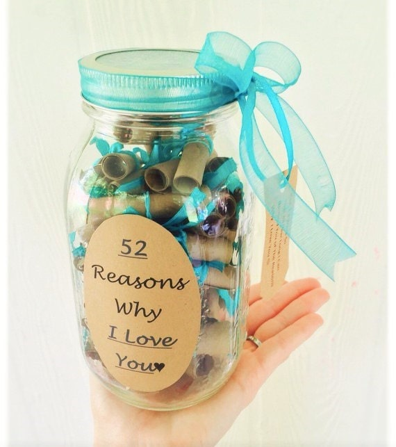 reasons why i love you craft ideas 52 reasons why i you teal by thebumblecomb on etsy 8140