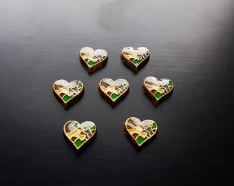 Camouflage Heart Floating Charm for Floating Lockets-Gift Idea