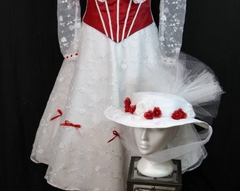 Women's Mary Poppins-Inspired Jolly Holiday (Dress. Corset, and Hat)