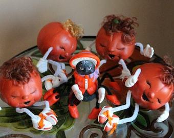 Ceramic Pumpkin and Spider People