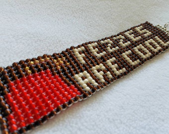 Doctor Who Eleven Fezzes Are Cool Fez 11 Eleventh Beadwork Bracelet Cuff