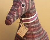 Meet Haven! Haven is a one-of-a-kind, almost life size, sitting soft sculpture greyhound.