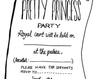 Pretty Princess Party Invitations