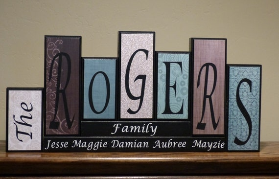 Home decor living room decor home living family block letters for Living room 6 letters