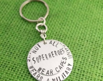 Super hero key chain,Military key chain, military uniform, key chain for soldier, key chain for dad, key chain for hero, super hero soldier
