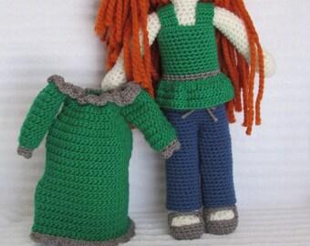 Baby Doll, Crochet Doll, Toy Doll, Amigurumi Doll, Soft Baby Doll, Plush Doll, Baby Doll Clothes, Crochet Clothes, Crochet Baby Doll Clothes