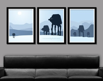 Star Wars Inspired - Hoth Tribute - Minimalist Movie Poster Set - Edition Two - Home Decor
